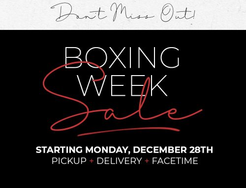 Boxing Week Sale – Starts Monday, December 28th