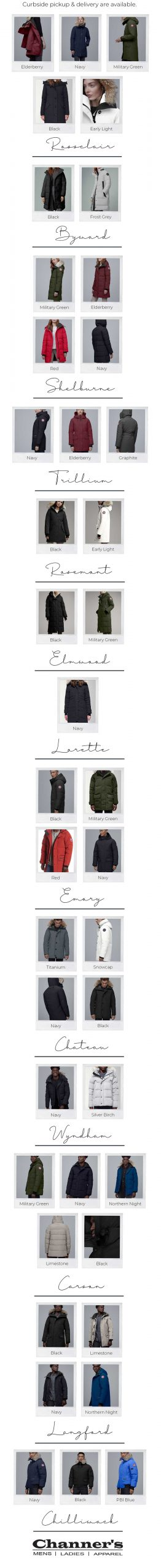 Canada Goose Stock - Channer's London